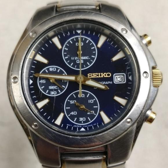new style c46e7 2f934 ⌚Seiko 7T92-0FX0 Chronograph Men's Watch H223⌚